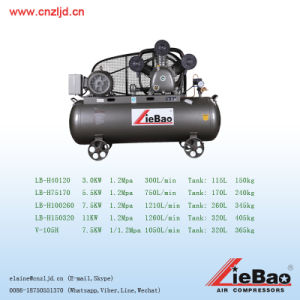 China 12bar High Pressure Piston Reciprocating Air Compressor