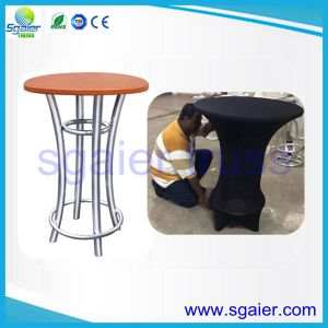 Solid Wood Bar Table and Aluminum Structure Bar Chair with Cheap Price