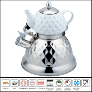 2.7L+0.75L Double Kettle with Tea Pot Multi-Functional Kettle pictures & photos