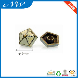 Alloy Star-Shaped Jean Rivets, Anti-Brass with Milky White Oil Tumbling Color