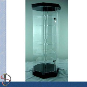 6 Shelves Acrylic Display Cabinet With Lock