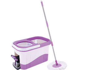 360 Degree Easy Rotating Magic Clean Floor Mop Stick with Bucket