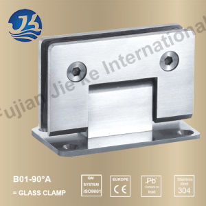 Stainless Steel Bathroom Fitting Glass Clips (B01-90A)