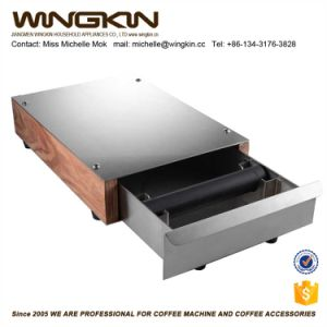 Grinder Drawer Coffee Knock Box Stainless Steel Black Large