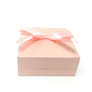 Red Color Silk Ribbon Gift Box of Custom Logo