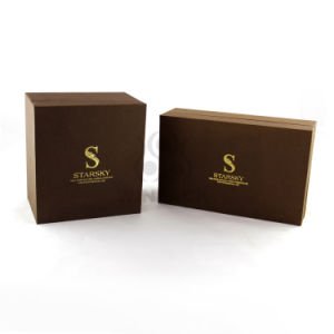 Brown Eyelashes Box/Packing Box/ Gift Box with Gold Printing