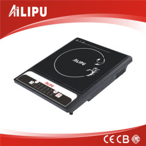 High Powerful Display 2200W and High Quality Black Crystal Plate Induction Cooking Top pictures & photos