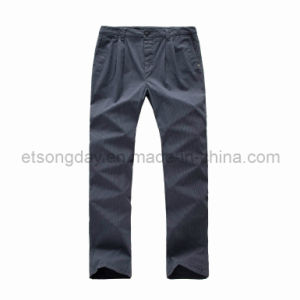 Dark Gray Cotton Spandex Men′s Trousers (GA124) pictures & photos