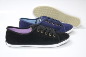 Women′s Canvas Shoes with Rubber Outsole (SNC-230011) pictures & photos