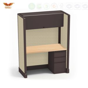 Staff Table with Partition Wooden Office Workstation Design pictures & photos