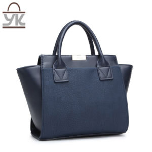 Contrast Color Bat Fashion Shoulder PU Leather Designer Handbags pictures & photos