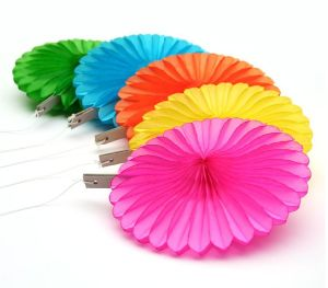 Small Wholesale Order Tissue Paper Fans for All Events and Accasion Decoration