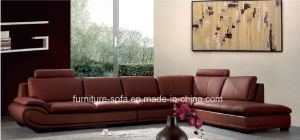 Living Room Furniture Hot Sales Top Leather Sofa Set (SO02)