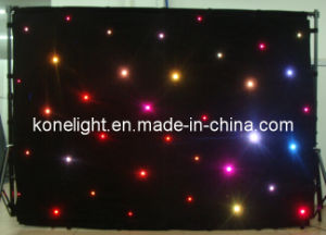 Kone--Velvet RGB Star Curtain with LEDs for Stage Drape