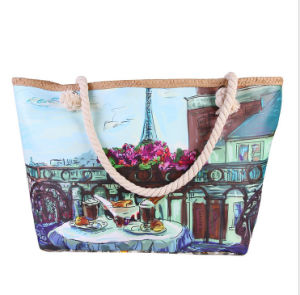 European and American Landscape Canvas Bag