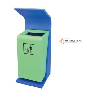 Powder Coated Steel Heavy Duty Outdoor Trash Cans pictures & photos