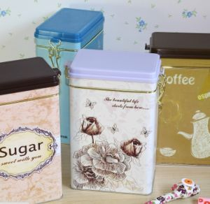 New Style Modern Fashion Food Storing Tin Gift Box