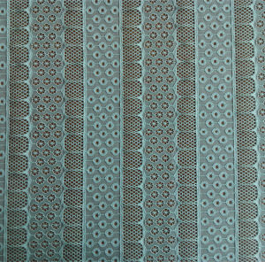 Polyester and Spandex Jacquard Lace Fabric