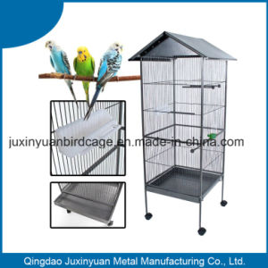 Black Metal Bird Cage with Wheel/ Chinese Hot Sell Parrot Cage pictures & photos