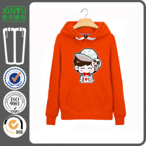 2016 Orange Fleece Cheap Mens Fleece Hoodie From Karachi pictures & photos