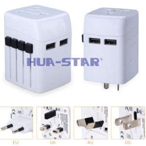 New Multifunction World Travel Adapter with 2 USB Charger (HS-T101DU) pictures & photos