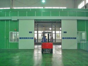 Industrial Sliding Door for Factory, Galvanized Steel Surface, PU Foam pictures & photos