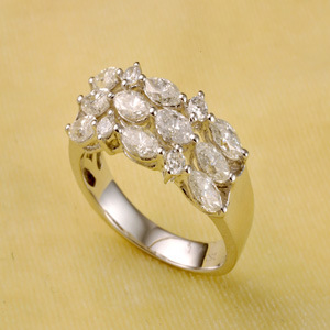 Gold Diamond Engagemment Ring (2471)