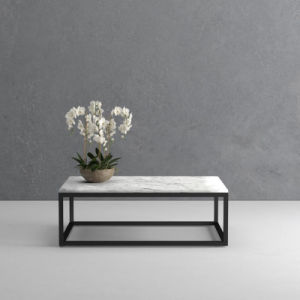 China Steel Frame Legs Classic Real Marble Rectangle Coffee Table