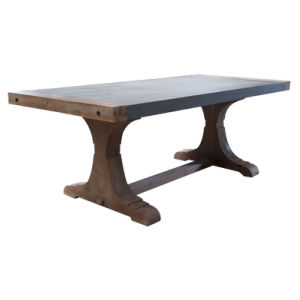 China 6 Seater Outdoor Cement Top Dining Table Furniture