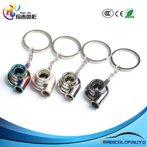 Real Whistle Sound Turbo Keychain Spinning Turbine Key Chain Ring Keyring  Keyfob