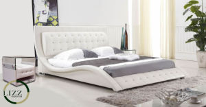 China Chesterfield Design Pakistan Furniture Bedroom Modern Bed China Modern Leather Bed Hotel Leather Bed