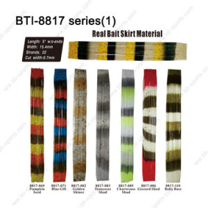"Most Popular Color Choice for Fly Tying Material Bti-8817 5"" Real Bait Skirt Material"
