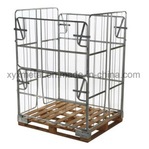 Warehouse Storage Container Collapsible Steel Wire Mesh Cage for Pallet pictures & photos