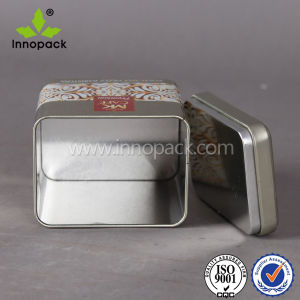 Square Emobossed Metal Tea Tin with Lock for Coffee and Tea pictures & photos