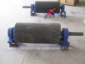 Belt Conveyor Head Pulley with Rubber Lagging pictures & photos