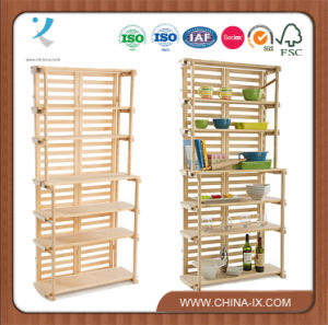Wooden Baker′s Rack Retail Shelving with 6 Shelves