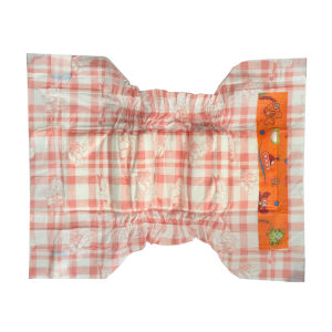 Orange Chequer Pattern Nice Design Baby Disposable Diaper