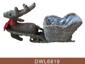 Brushwood Christmas Reindeer Garden Planter