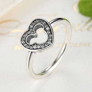 925 Silver Ring with Clear Zircon Meda in China Ring pictures & photos