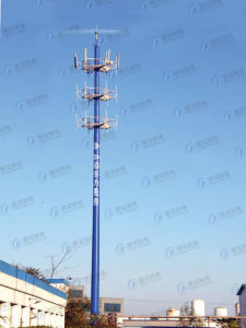 GSM Galvanized Monopole Telecommunication Steel Tower