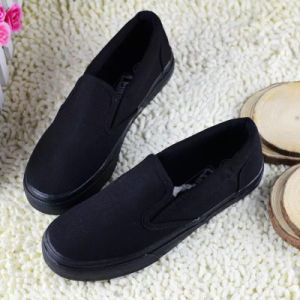 Rubber Sole Cheaper Canvas Shoe