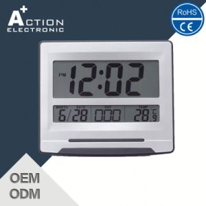 China Large Lcd Digital Wall Calendar Clock Battery Operated With