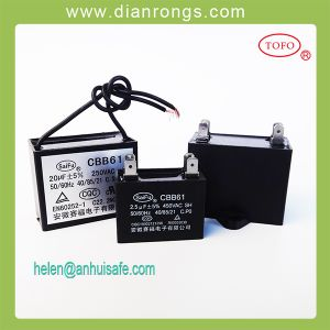 2.5UF 450V Ceiling Fan Wiring Diagram Capacitor Cbb61 pictures & photos