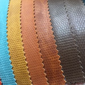 Durable Pebble Grain PVC Leather for Making Shopping Bags pictures & photos