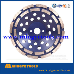 Double Turbo Aluminium Type Diamond Grinding Tools Cup Wheel