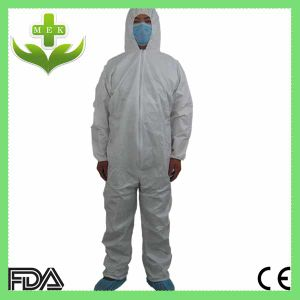 White PP Non Woven Disposable Coverall pictures & photos