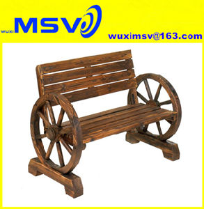 Remarkable China Msv Rustic Wooden Wagon Wheel Garden Bench China Ibusinesslaw Wood Chair Design Ideas Ibusinesslaworg