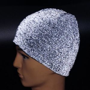 765f9fd8 Hot Sale New Novelty Night Luminescene safety Reflective Hats Funny Winter  Custom Knit Beanies for Adults