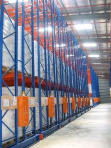 Electric Power Mobile Pallet Rack pictures & photos
