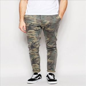 2016 Men′s Cool Allover Camouflage Print Skinny Camo Chino Pants pictures & photos